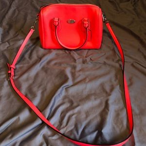 Hot pink coach cross body bag